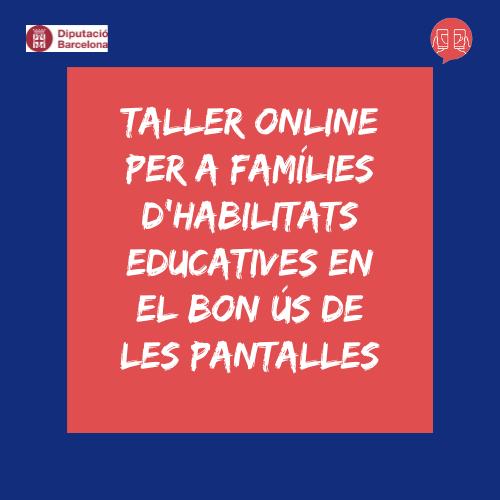 Taller online famílies i pantalles